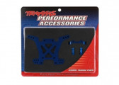 Traxxas 6838X Shock Tower, rear, 7075-T6 aluminium (blue-anodized) (1) / body mount bracket (1)