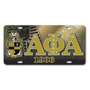 APA Printed Crest License Plate