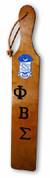 "Laser engraved traditional walnut paddle.  Size approximately 22"" X 3.5"""