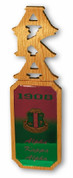 "Alpha Kappa Alpha 22"" X 6.5"" Domed Wall Hanger"