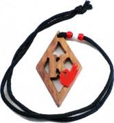 Kappa Diamond  Wood Medallion