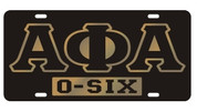 "APA ""0-Six"" Car Tag"