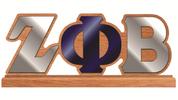 Desk Top Letters w/Wooden Base - ZPB