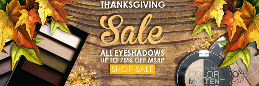 Thanksgiving sale all eyeshadows up to 75% off