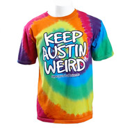 """Keep Austin Weird"" Tie Dye Tee (Adult)"