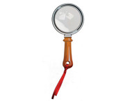 """Flat Fresnel """"Magnifier Glass"""" Book Mark with Red Tassel"""
