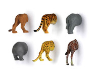 6 Wild Animal Butt Magnets