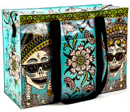 Blue Q Day of the Dead Shoulder Tote (QA642)