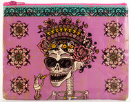 Blue Q Day of the Dead Zipper Pouch (QA246)