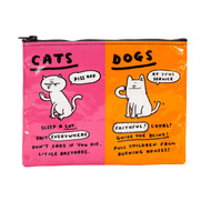 Blue Q Cats & Dogs Zipper Pouch (QA257)