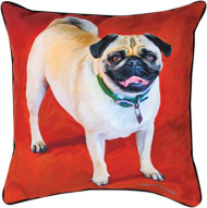 MWW Doug the Pug Pillow SLDGTP