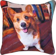 MWW Corgi Get Low Pillow SLCGGL