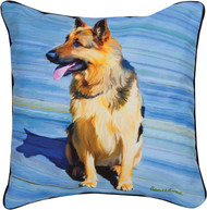 MWW Big Shutz German Shepard Pillow