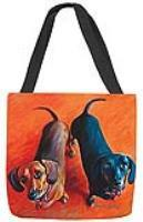 MWW Double Dachsies Tote SODDDH