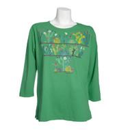 Sabaku Cactus Meadow 3/4 Sleeve Tee (355MEA3/4s)