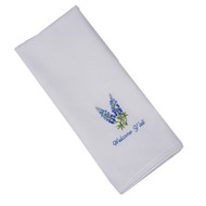 "Bluebonnet Embroidered ""Welcome Y'all - Austin, Texas"" Hand Towel"