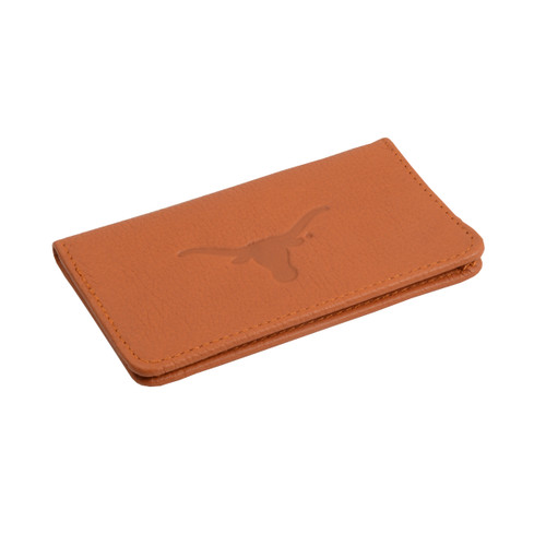 Texas longhorn leather slim business card holder t406 sue patrick add to wish list click the button below to add the texas longhorn leather slim business card holder colourmoves