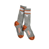 Texas Longhorn Youth Logo Stripe Crew Socks