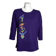 Sabaku Beautiful Bird Totem 3/4 Sleeve Top (2 Colors) (363GRP34s)