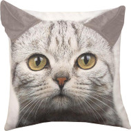 Cat Print Pillow with 3D Ears