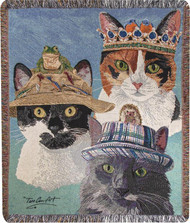 Cats in Hats Throw