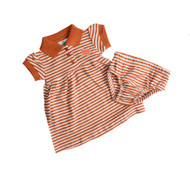 Team Color Texas Stripe Dress with Bloomers
