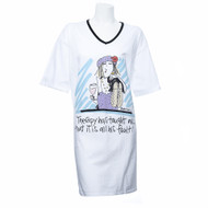 """Therapy has taught me..."" Nightshirt in a Bag (One Size)"