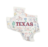 Texas Shaped Map Pillow
