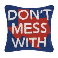 Don't Mess with Texas Crewel Pillow