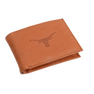Texas Longhorn Leather Convertible Wallet (T550)