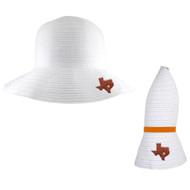 Team Color Amelia Collapsible Sun Hat (4309-Wht)