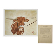 "Texas Longhorn ""Centennial Campion""  Bevo XV Signed Print"