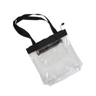 Clear Zipper Tote-Black (R4CST)