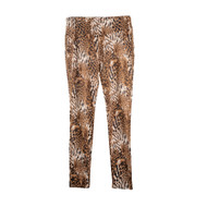Sharon Young Leopard Pull-On Ponte Pant (S38569PM)