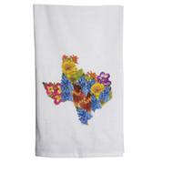 Texas Shaped Wildflower Design Towel (TTTEXASSHAPE FLOWERT)