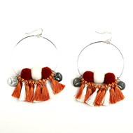 Texas Longhorn Maci Tassel Earrings (60TX178)