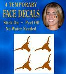 Texas Longhorn Face Tattoos (3500-00025)