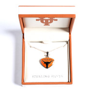 Texas Longhorn Sterling Silver Pendant (S45685)