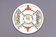 Texas Longhorn Hand Painted Veggie Platter (52501)
