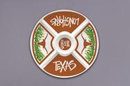 Texas Longhorn Melamine Veggie Platter (22501)
