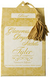 Tyler Candle Dryer Sachets Now you can enjoy your favorite Tyler scent in the laundry Sachets may be reused to fragrance and soften up to 8 loads of laundry Sachets can also be used in closets, drawers and under the sink. (4 per box or 32 Loads)