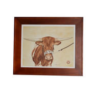 "Texas Longhorn Framed ""Centennial Champion"" Bevo XV  Print (Limited Edition)"