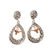 Texas Longhorn Tear Drop Elise Earrings (3348730)