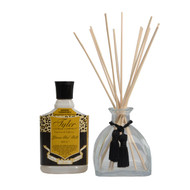 Sets Contain 1 glass reed diffuser bottle with stopper and black tassle  12 reeds 1 funnel  8oz of fragrance   Use the funnel fill glamour vessel. Release immediate aroma by flipping or rotate reeds to regulate and increase fragrance intensity .The more you flip or rotate the more intense the fragrance!  The fragrance may naturally darken as evaporation occurs. Sunlight and heat will intensify the darkening .  Depending on sunlight, heat and how often the glamour reeds are rotated  8 oz. glamour diffuser should last between 2-3 months.