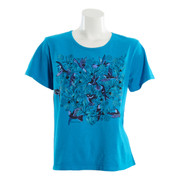 Sabaku Short Sleeve Bouquet of Hummingbirds Tee (2 Colors) (328ssbt)