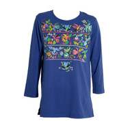 Sabaku Humming Bird 3/4 Sleeve Huipil Tee