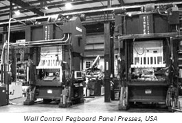 A look inside the Wall Control Manufacturing Facility in Atlanta Georgia, USA