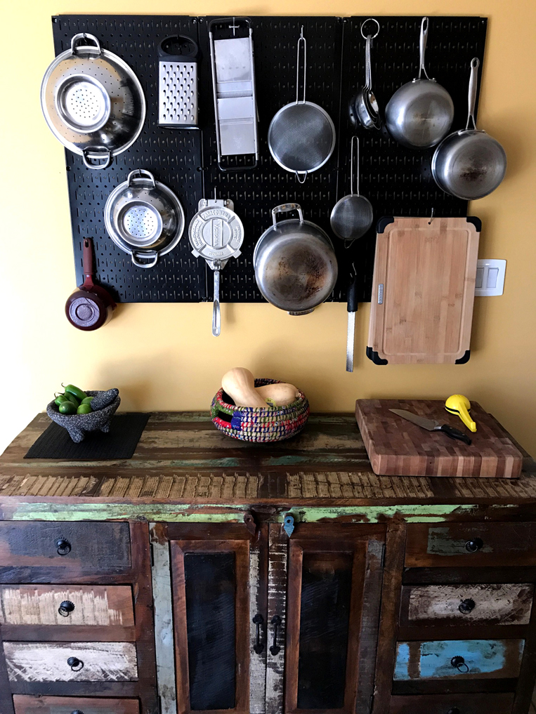 Rustic Kitchen Pegboard Image Wall Control Kitchen Photo Contest
