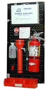 Metal Pegboard Emergency Station Organizer Kit