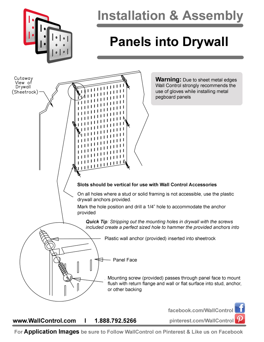 How To Install Pegboard Into Drywall